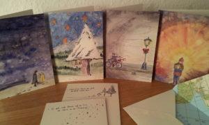 wandelweihnachtskarten-set